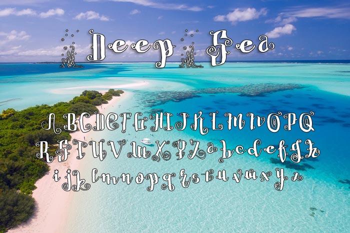 Deep Sea Typeface