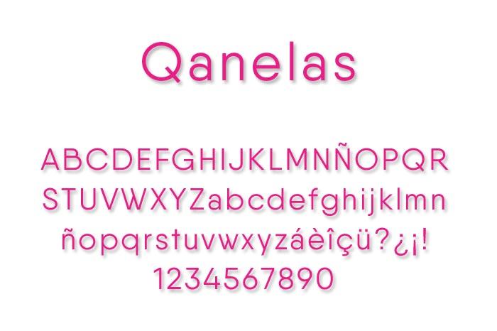 Qanelas Font + Web fonts