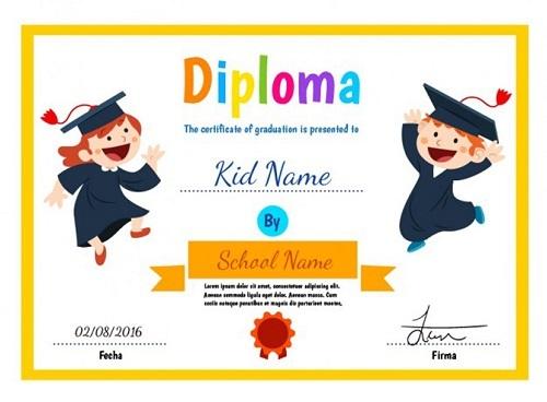 diploma escolar divertido