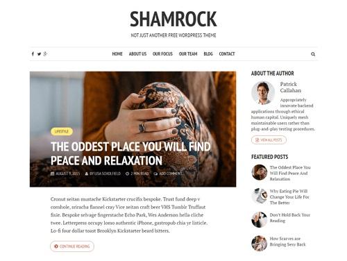 shamrock theme